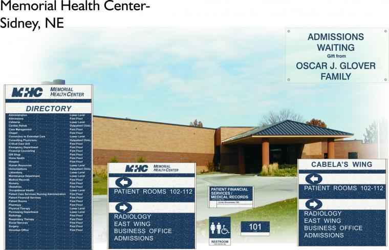Memorial Health Center Sidney Ne Avalis Wayfinding
