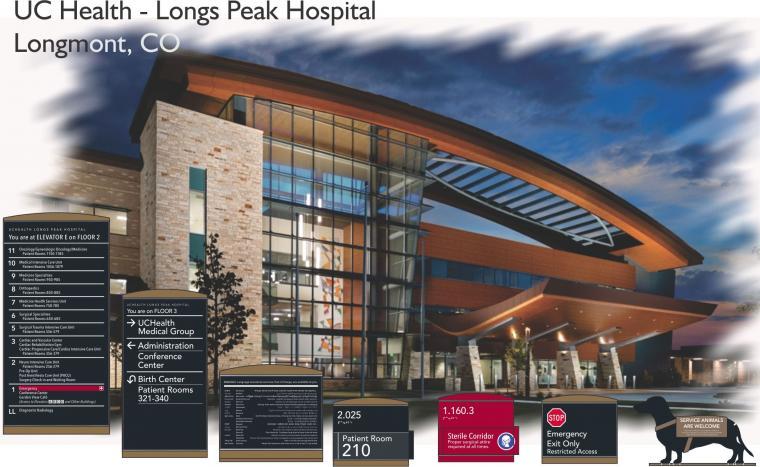 UC Health - Longs Peak Hospital  Longmont, CO | Avalis Wayfinding